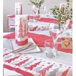Coprimacchia natalizio 100x100 Jingle rosso carta a secco 100pz