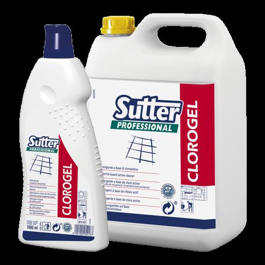 Detergente igienizzante SUTTER CLOROGEL 1lt. - 12pz.