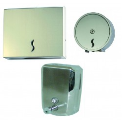 Kit Dispenser Bagno In Acciaio Inox Medial