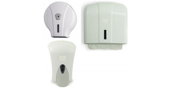 Kit dispenser bagno in plastica medial wave - Kit cortesia bagno ...