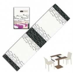 Runner You & Me 120x40 Airlaid Wine Nero PLUS line 200pz