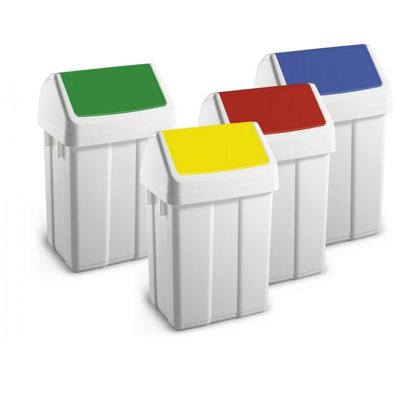Cestino raccolta differenziata in polipropilene colori - Contenitori raccolta differenziata per casa ...