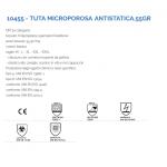 Tuta di protezione in Tyvek microporoso alto rischio CHIMICO E BIOLOGICO- DPI  Categoria III-  Tipo 5 e 6