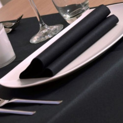 Tovaglioli 40X40 Color Nero Napkin Airlaid Carta a Secco PLUS line 800pz